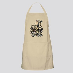 Octopus Writes With Many Arms Apron