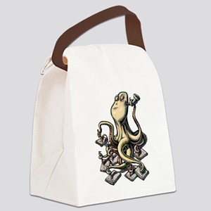 Octopus Writes With Many Arms Canvas Lunch Bag