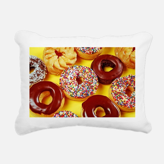 Assorted delicious donut Rectangular Canvas Pillow