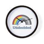 Undecided Rainbow Wall Clock