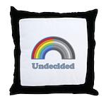 Undecided Rainbow Throw Pillow