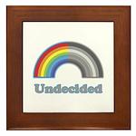 Undecided Rainbow Framed Tile