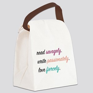 Read, Write, Love Canvas Lunch Bag