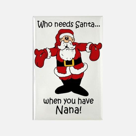 Who needs Santa Rectangle Magnet