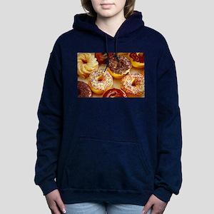Assorted delicious donut Women's Hooded Sweatshirt
