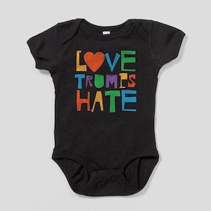 Love Trumps Hate Baby Bodysuit