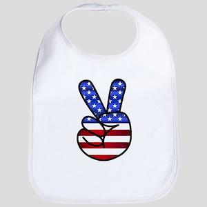 Peace USA Bib