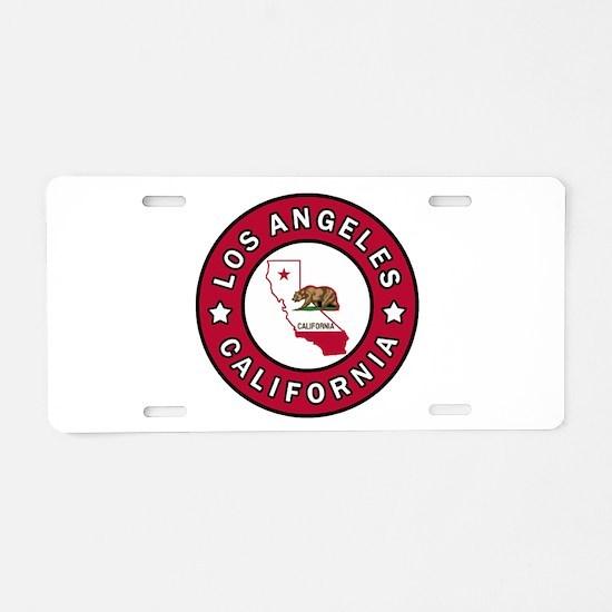 Los Angeles California Aluminum License Plate