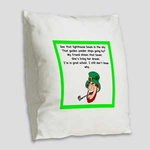 funny limerick Burlap Throw Pillow