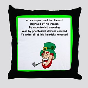limerick Throw Pillow