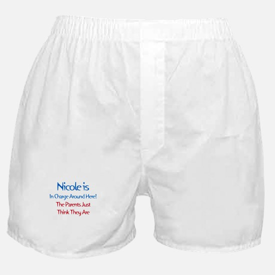 Nicole Is In Charge Boxer Shorts