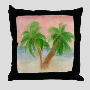 Twin Palms Throw Pillow