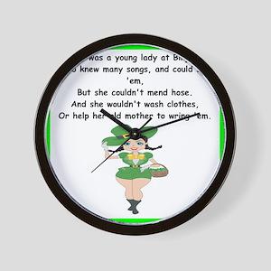 funny limerick Wall Clock