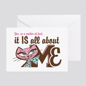All About Me Kitty Greeting Card