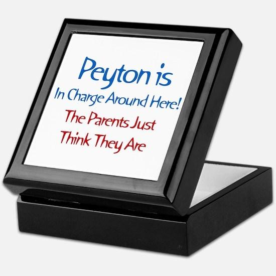 Peyton Is In Charge Keepsake Box