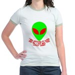Abducted By Aliens Jr. Ringer T-Shirt