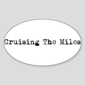 """Cruising The Miles"" Sticker"