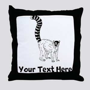 Ring Tailed Lemur Throw Pillow