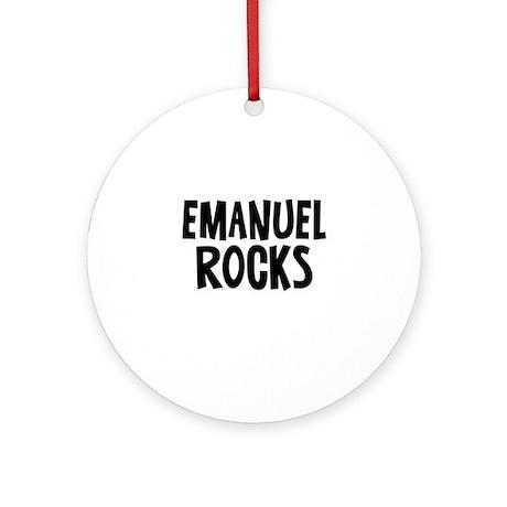 Emanuel Rocks Ornament (Round)