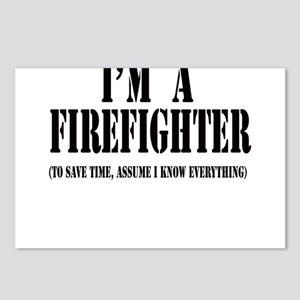 I'm A Firefighter-Light Postcards (Package of 8)