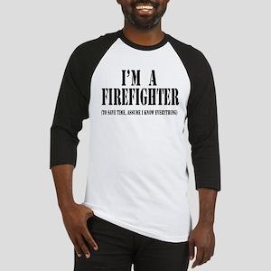 I'm A Firefighter-Light Baseball Jersey