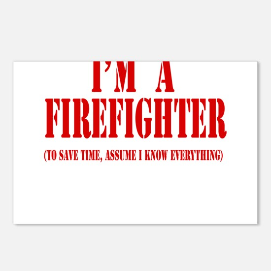 I'm A Firefighter- Red Postcards (Package of 8)