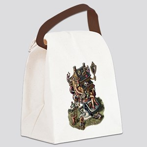 House in barbershop chair getting Canvas Lunch Bag