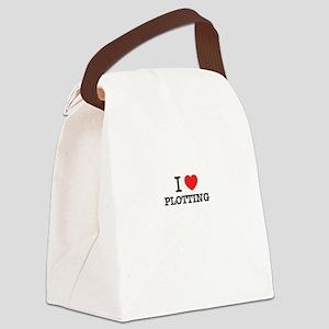 I Love PLOTTING Canvas Lunch Bag