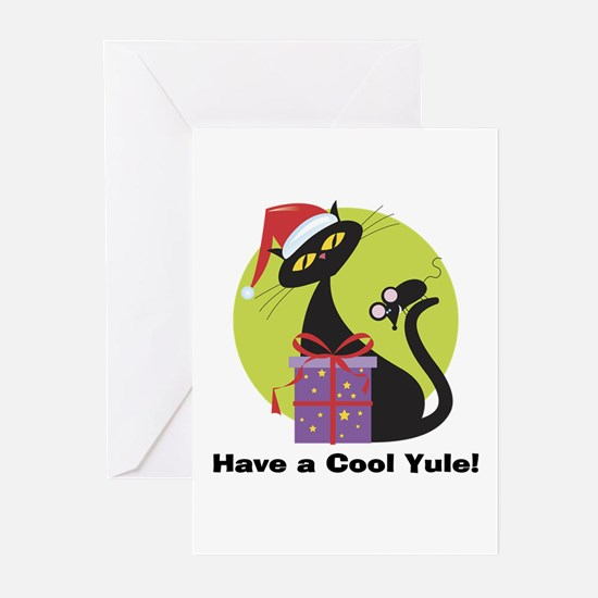 Cool Yule Kitty Greeting Cards (Pk of 20)