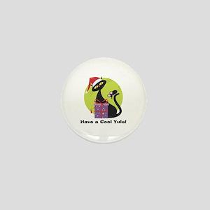 Cool Yule Kitty Mini Button