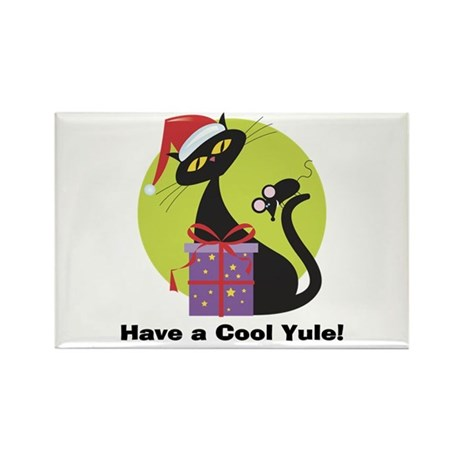 Cool Yule Kitty Rectangle Magnet