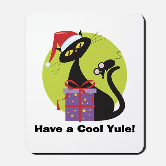Cool Yule Kitty Mousepad
