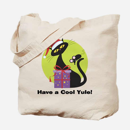 Cool Yule Kitty Tote Bag