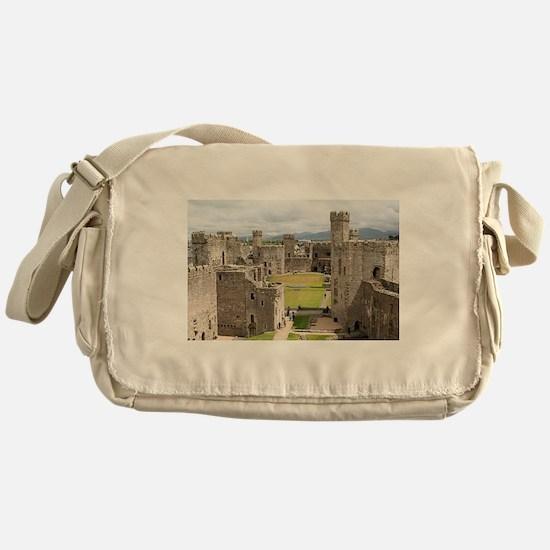 Caernarfon Castle, Wales, United Kin Messenger Bag