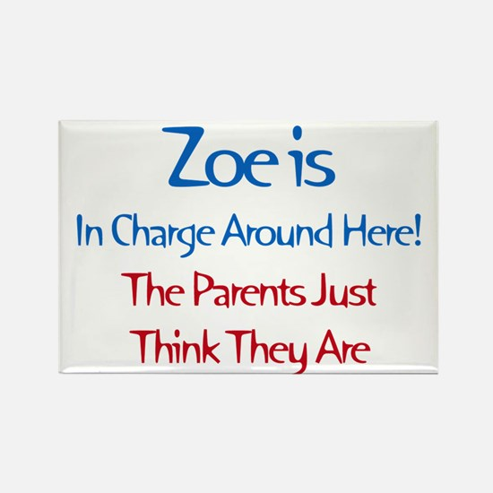 Zoe Is In Charge Rectangle Magnet (10 pack)