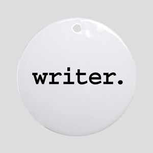 writer. Ornament (Round)