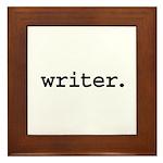 writer. Framed Tile