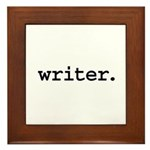 writer. Framed Tile