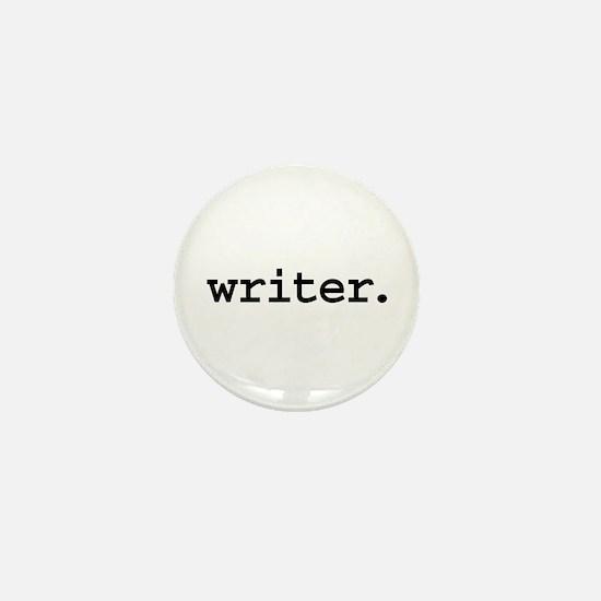 writer. Mini Button