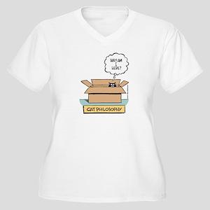 Cat Philosophy Women's Plus Size V-Neck T-Shirt
