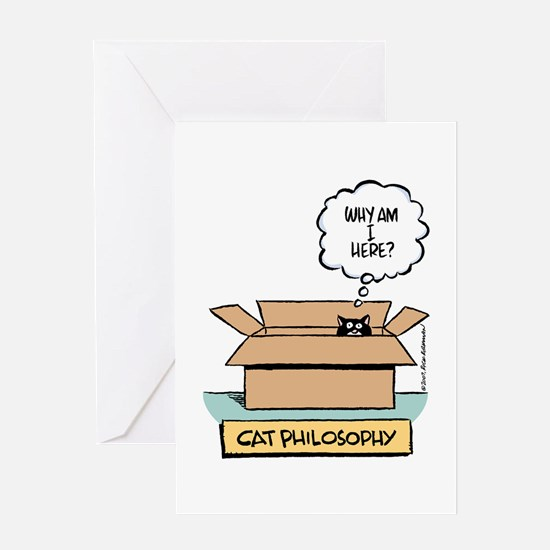 Cat Philosophy Greeting Card