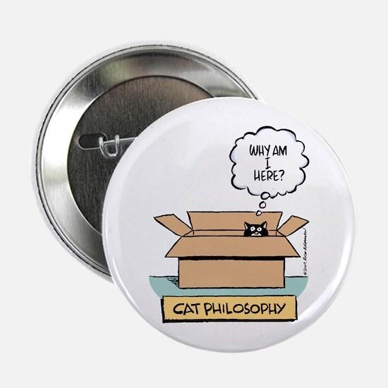 """Cat Philosophy 2.25"""" Button"""