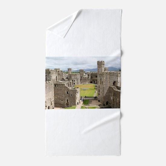 Caernarfon Castle, Wales, United Kingd Beach Towel