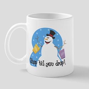 Shopping Snowman Mug
