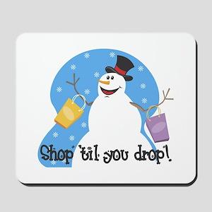 Shopping Snowman Mousepad