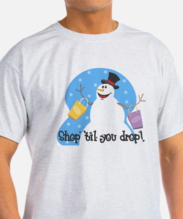 Shopping Snowman T-Shirt