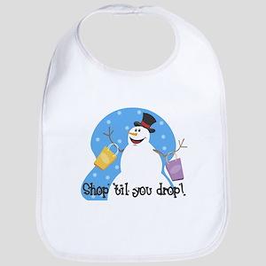 Shopping Snowman Bib