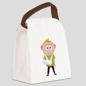 broken arm Canvas Lunch Bag