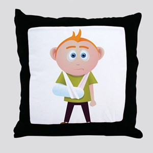 broken arm Throw Pillow