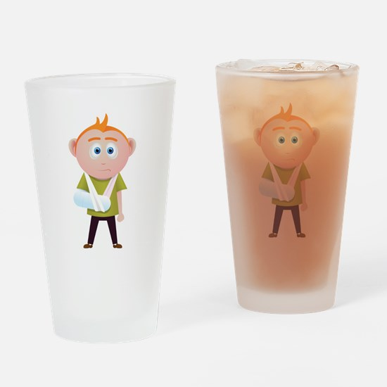 broken arm.png Drinking Glass